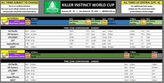 وصلة المتابعة المباشرة لبطولة Killer Instinct العالمية