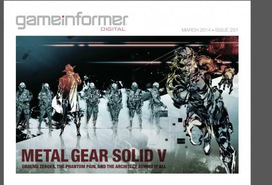 نسخة الديجتال من مجلة GameInformer لهذا الشهر MGS V