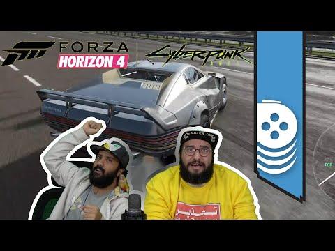 نهجول بسيارة سايبربنك 2077 في لعبة فورزا هورايزن 4