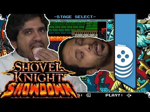 ألعاب نلعبها: العيال تضاربوا مع بعض!! وأحمد يأكل؟؟ Shovel Knight Showdown