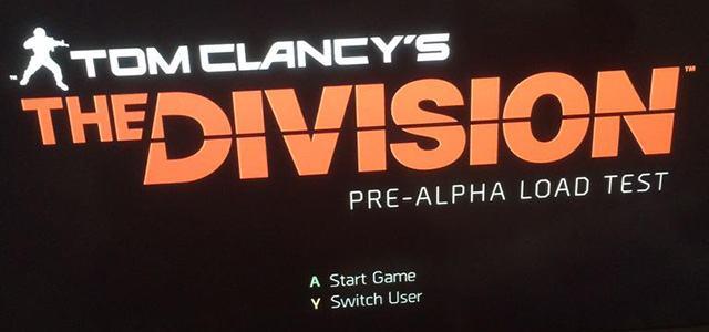 تسريب صورة لشاشة لعبة The Divison في مرحلة ال Pre