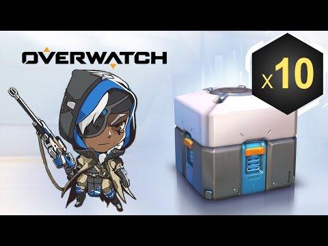 طريقة لعب Ana و فتح 10 صناديق Overwatch