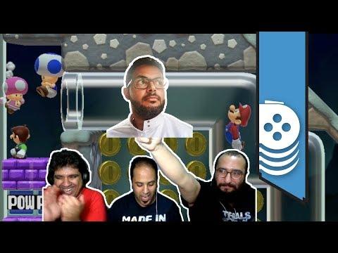 ألعاب نلعبها: التحدي الجماعي ضد مبارك ???? Super Mario Maker 2